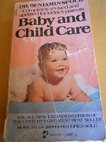 old baby and child care book