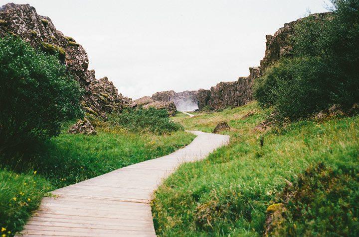 path running along beautiful scenery - pathways