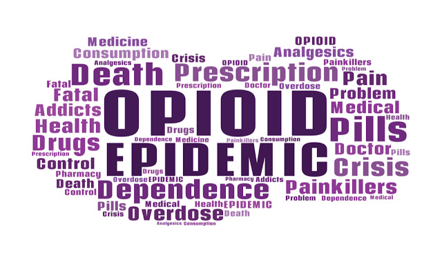 opioid epidemic spelled out