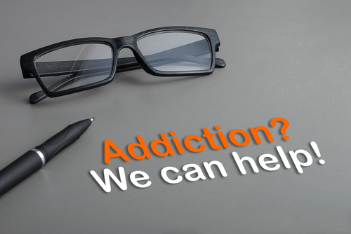 Addiction? We can help! words