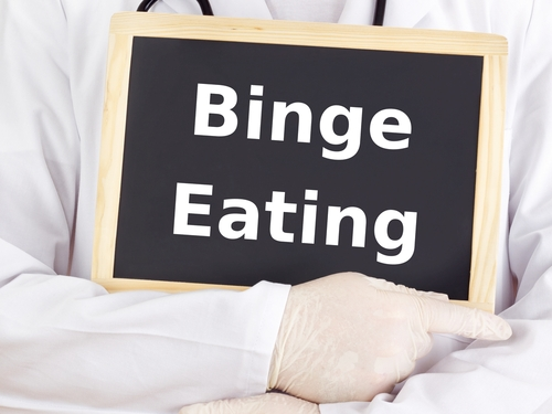 binge eating words on plaque