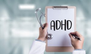 ADHD written on medical clipboard