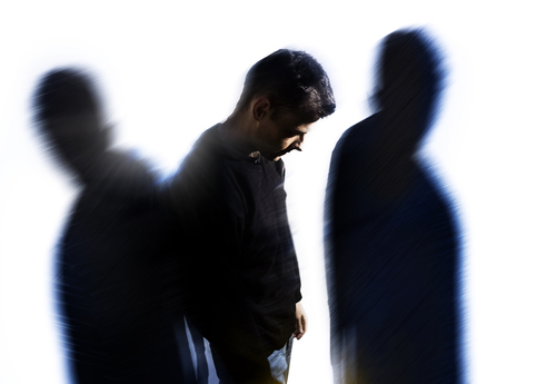 man with two shadows