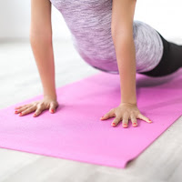 woman on yoga mat