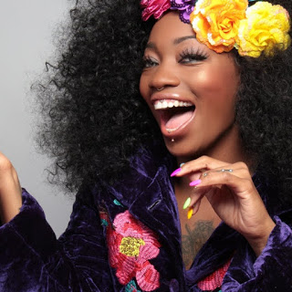 beautiful black woman laughing